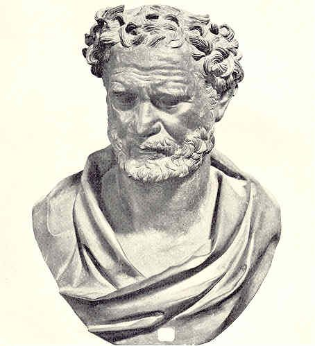 Democritus was a Greek philosopher from the Classical period that came up with what is considered to be the first atomic theory of matter.