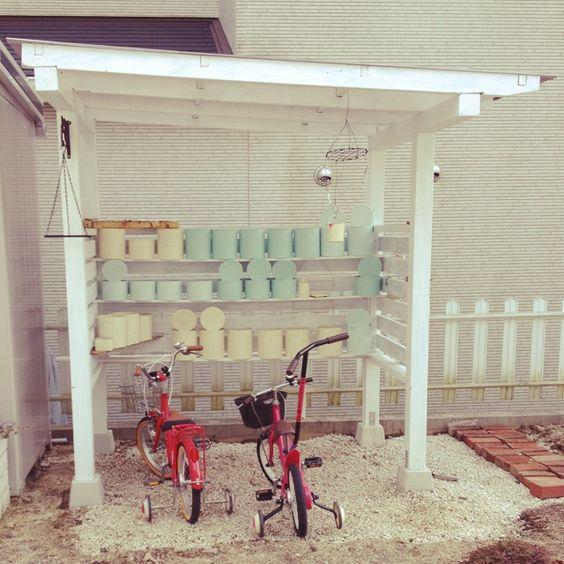 Diy 自転車 置き場 素人DIY。パーゴラベースの自転車置場(駐輪場)を作ってみた|アシタノ