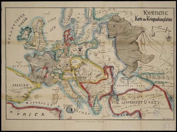 Komische Karte de Kriegsschauplatzes - Historiana.eu