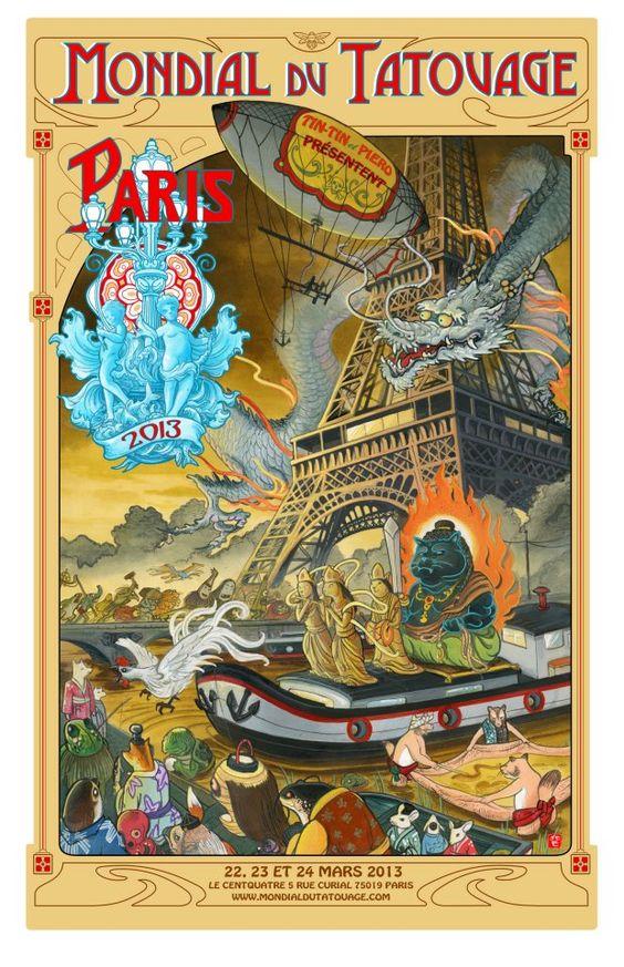 Le Mondiale du tatouage à Paris mon pote!!!!