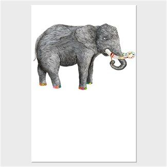Sanatçı fil Kendin Tasarla - Kanvas Tablo 60x90 cm Dikey