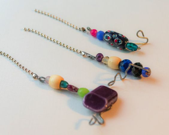 Hey, I found this really awesome Etsy listing at https://www.etsy.com/listing/473585403/fan-pulls-set-of-three-purples-and-blues