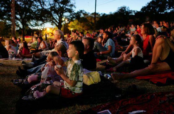 Audience at Zilker Hillside Theater.