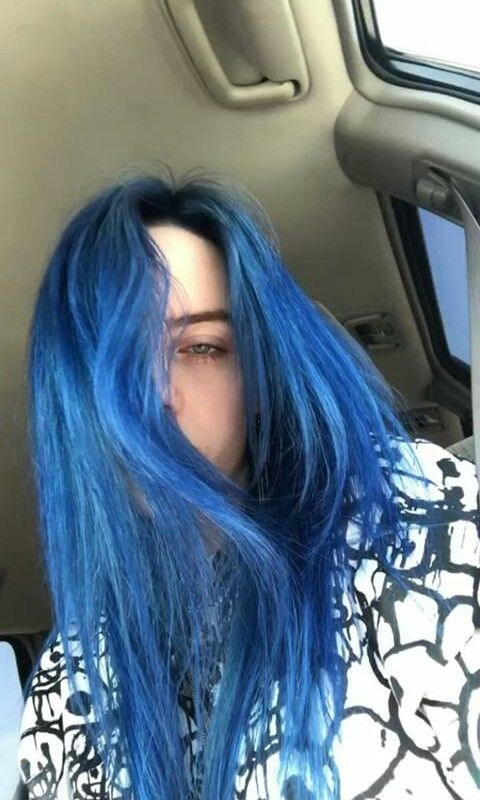 Billie Eilish Billieeilish Dark Blue Hair Dyed Hair Hair