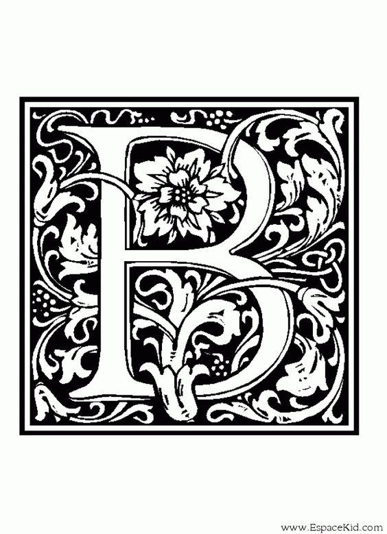 coloriage lettre b coloriages lettrine 907 alphabet coloriage letters pinterest alphabet. Black Bedroom Furniture Sets. Home Design Ideas