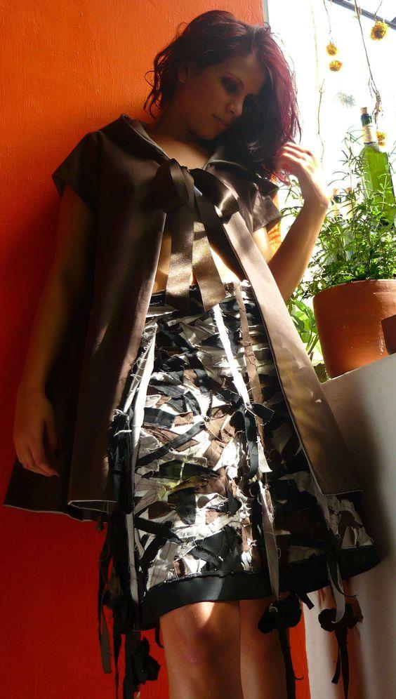 Capa y falda en patchwork