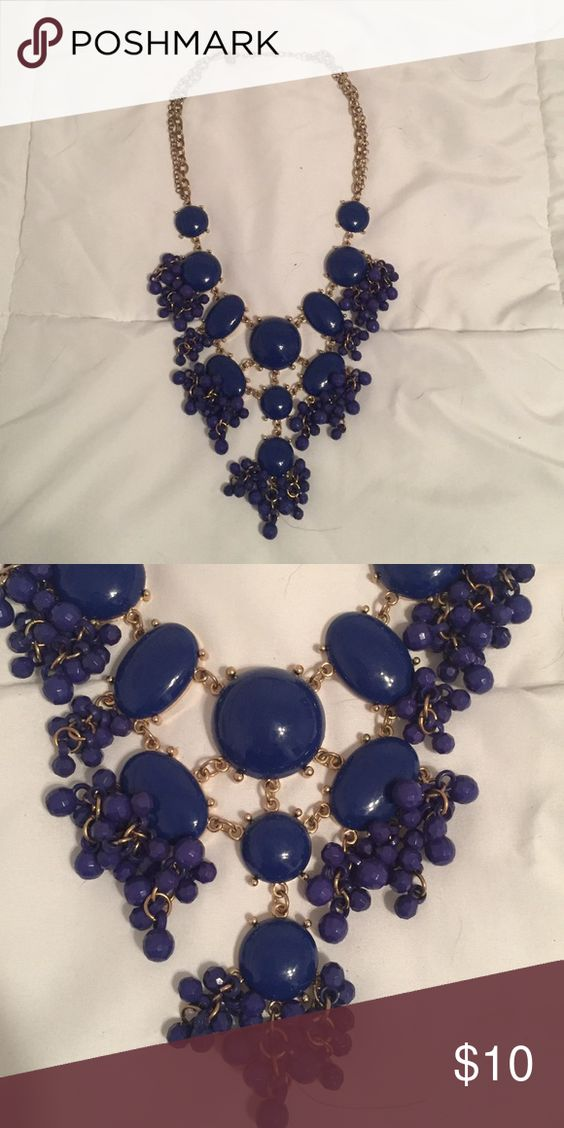 Royal blue chunky necklace! Statement necklace! Royal blue! Jewelry Necklaces