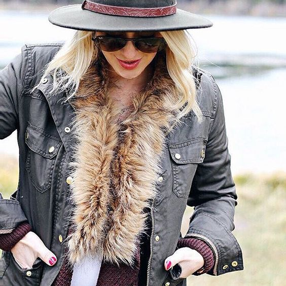 Layer up @shannonwillardson's faux trim sweater cardigan under your favorite jacket to give it an instant update   Get ready-to-shop details with www.LIKEtoKNOW.it   www.liketk.it/25XMP #liketkit
