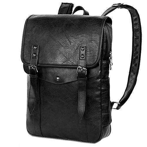 VBG VBIGER PU Leather Backpack Laptop Backpack 15 College
