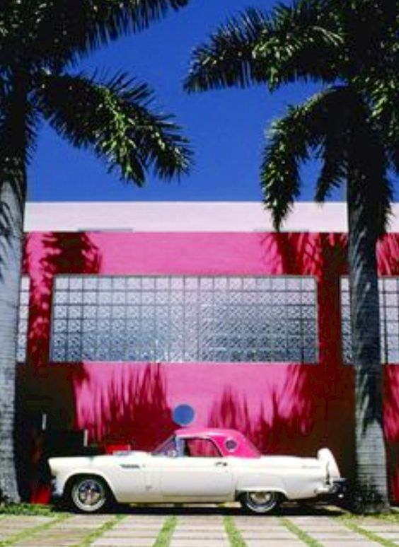 Miami Florida in Pink
