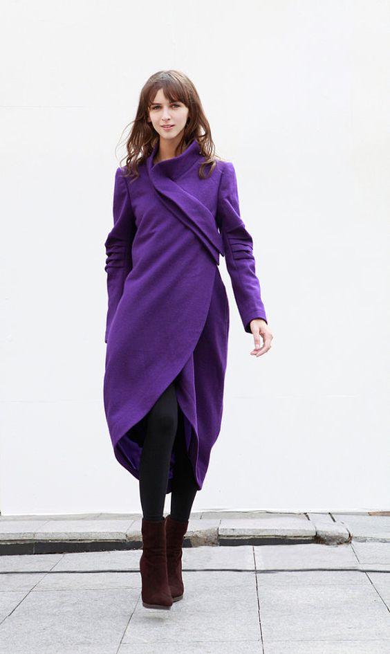 Violet Coat Bud Cashmere Coat Long Wool Coat Winter Coat Long