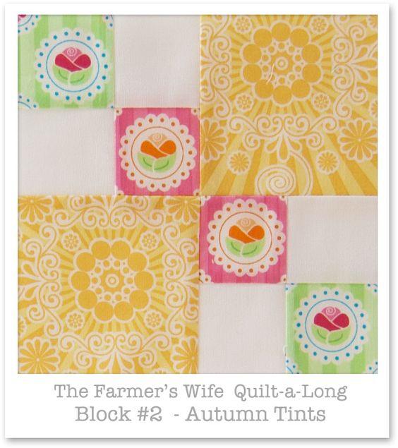 Farmer's Wife Quilt-a-Long - Block 2   por Happy Zombie