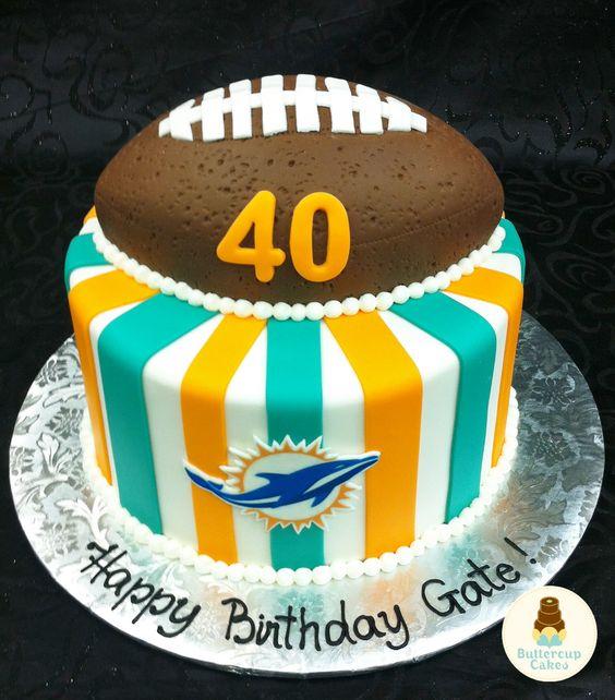 Miami Dolphins Birthday Cake Ideas