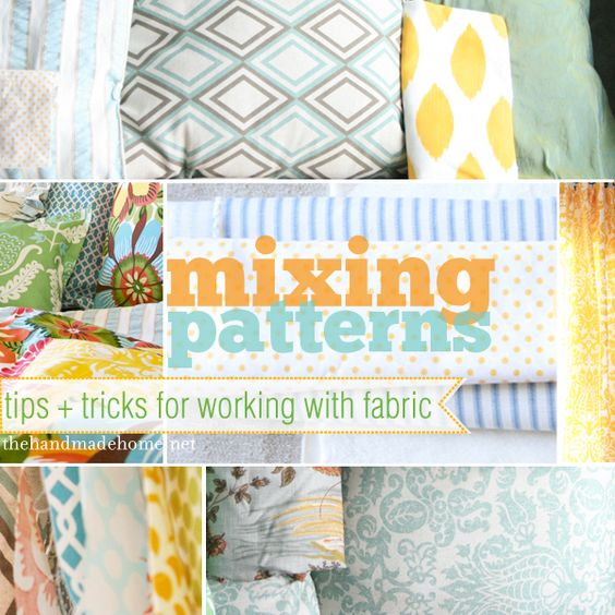 A great blog post about how to mix fabrics in your home decor.