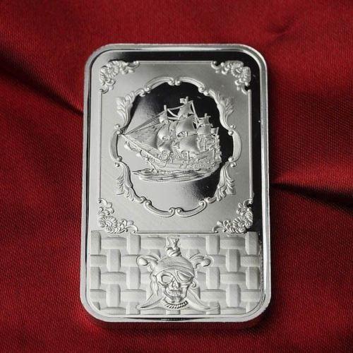 1 Troy Oz 999 Fine Silver Bar Bullion Pirate Ship Sb1f6 Silver Bars Gold Bullion Bars Gold Bullion Coins