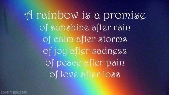 A Rainbow Is.... Quote Rainbow Lifequote Promise