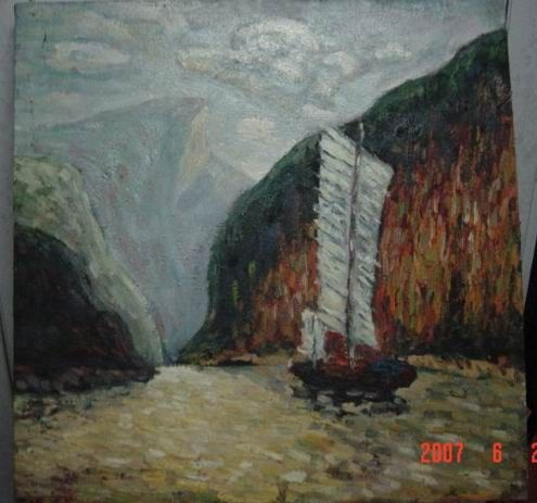 Sailing in Yangzi river by W.H. Tang on ARTwanted