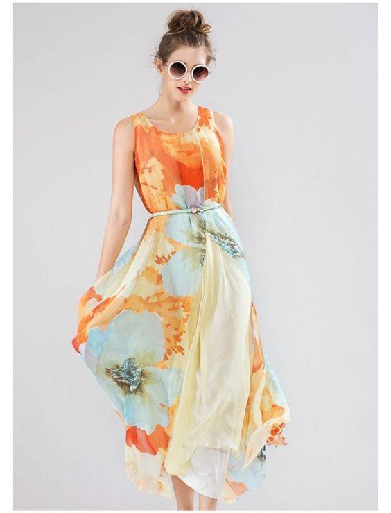 Vintage Style Maxi Dress