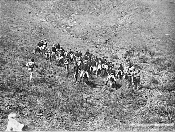 """FRAGATA  """"SARMIENTO"""", TERCER VIAJE  1902/1903 (Viaje 23 de Instruccion / 3° de la Fragata). Bahía de San Vicente, Cádiz (España). Paseo en burro. Cortesía:  Fundacion HISTARMAR, Buenos Aires (Argentina)"""