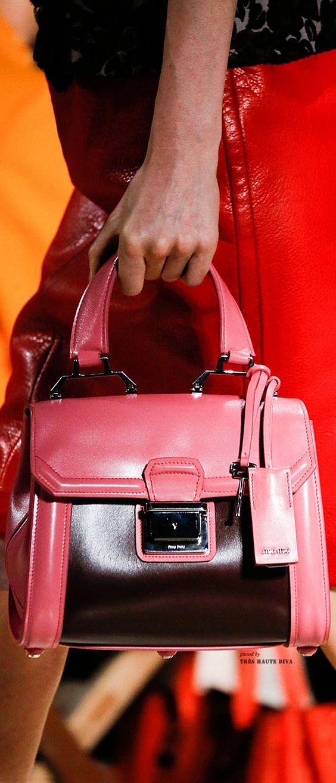 Miu Miu ~ Leather Satchel Handbag,Pink, Spring 2015