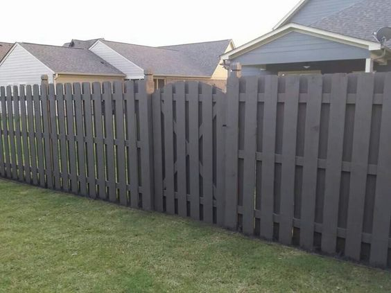 Solid Stain Shadow Box Privacy Fence www.trigroupbuilders.com