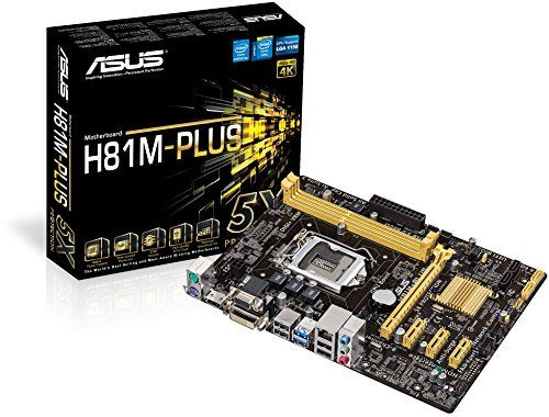 From 43 49 Asus H81m Plus Motherboard Socket 1150 Intel H81 Ddr3