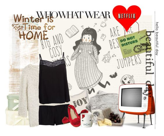 """""""Winter is time for home"""" by no-where-girl ❤ liked on Polyvore featuring MANGO, Bluebella, Diptyque, Valentino, Donna Wilson and WhatToWear"""