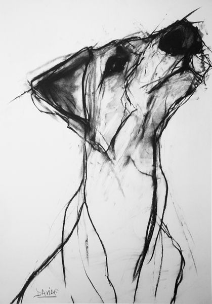 Valerie Davide. charcoal drawing. This looks like the paper I used to scrub the sharpie off my cast with.