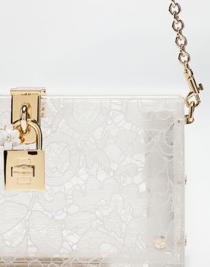 DOLCE BOX CLUTCH IN PLEXIGLASS AND LACE  - Clutches - Dolce&Gabbana - Winter 2016