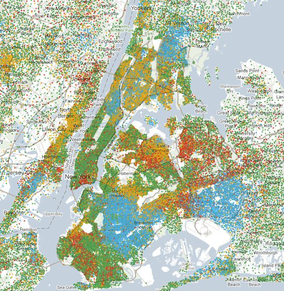 Mapping america every city every block amerika mapping america every city every block race and ethnicity by matthew bloch gumiabroncs Images