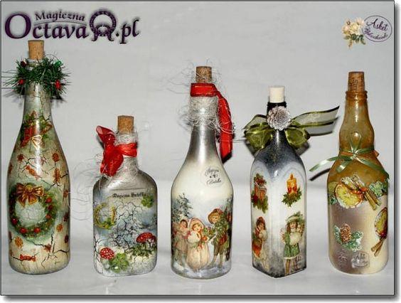 Nuestras botellas decoradas manualidades canela and whisky - Botellas decoradas manualidades ...
