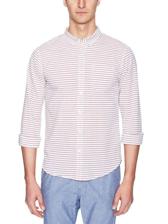 Horizontal Stripe Sport Shirt by J.A.C.H.S. at Gilt