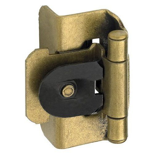 Amerock 1 2 Inch Overlay Double Demountable Hinge Pair Burnished Brass Bpr8704bb Overlay Hinges Inset Hinges Amerock Hinges