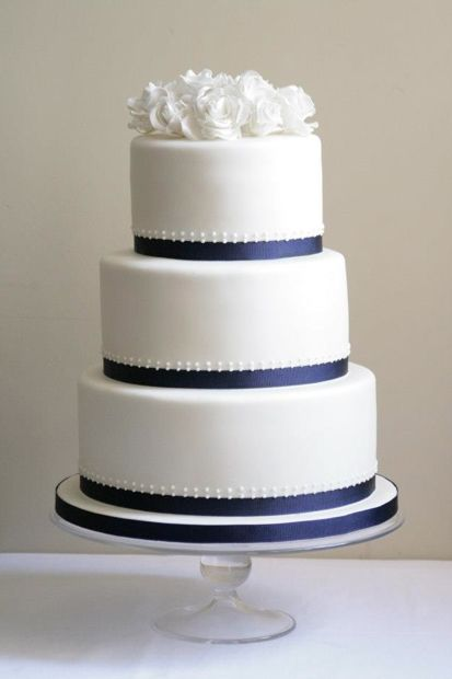 Simple But Elegant 3 Tier Wedding Cake For Vicky And Tom Delicate Piping And Handmade Roses