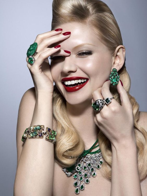 Martina Dimitrova. Dripping in Jewels.