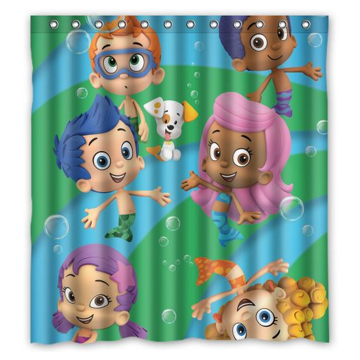 Bubble Guppies School Of Fish Shower Curtain Shower Curtain