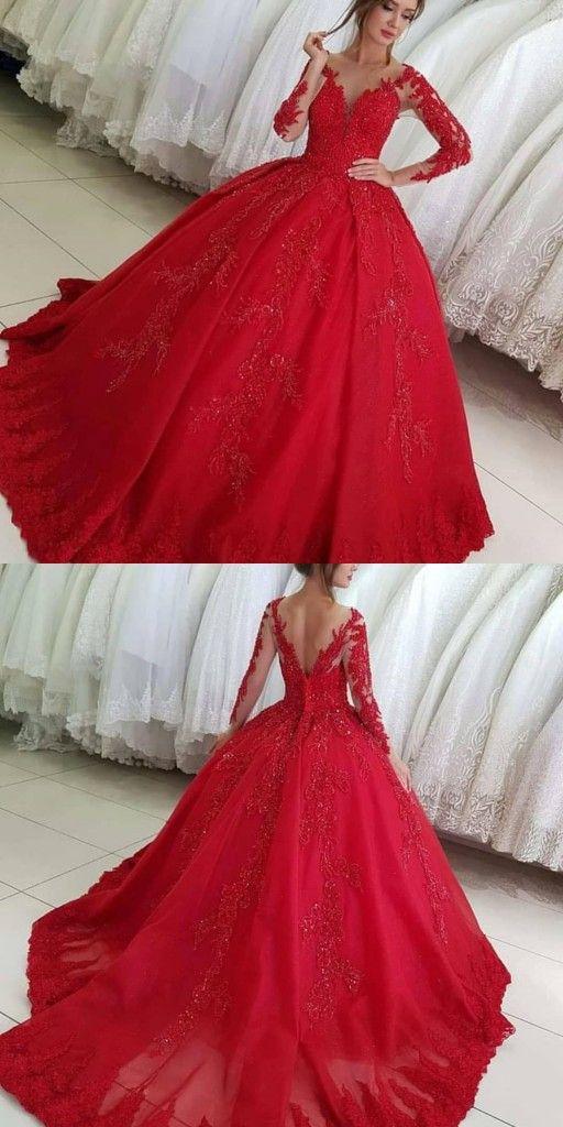 Luxus Rote Hochzeitskleider Mit Armel Brautkleider Prinzessin Spitze Brautkleider Brautkleider Abiballkleider Abendkleider Hochzeitstag Kleider Rote Hochzeitskleider Brautkleid