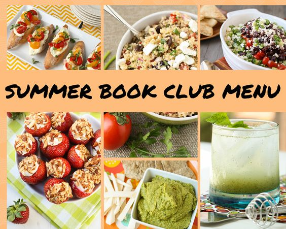 Summer Book Club Menu- Garnish with Lemon #bookclub