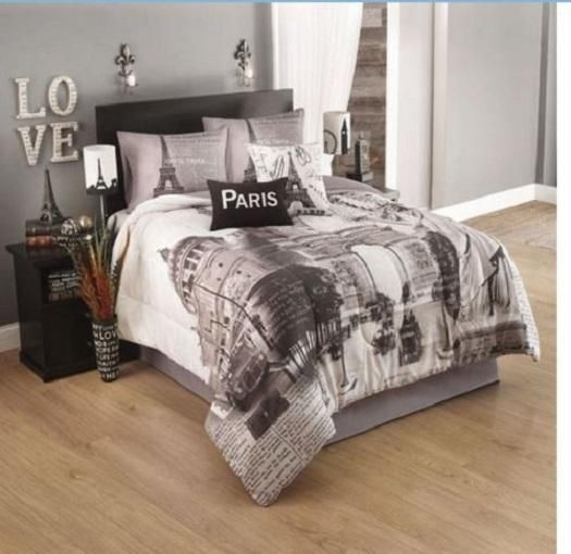Paris Themed Bedroom Comforter Sets, Travel Themed Twin Bedding