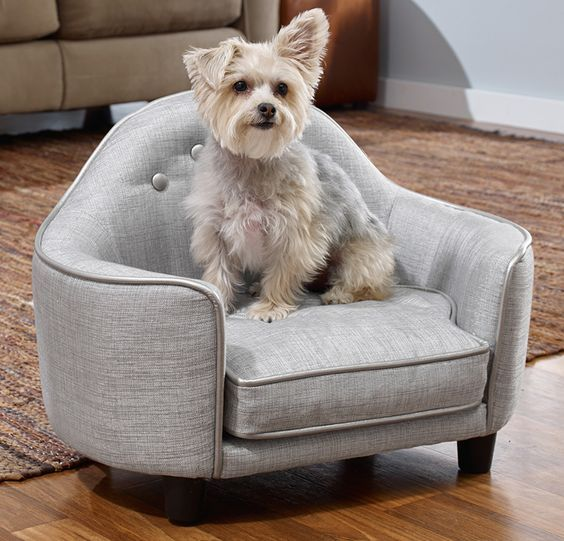 Enchanted Home Pet Silver Pet Beds Dog Couch Dog Sofa Bed Dog Bed