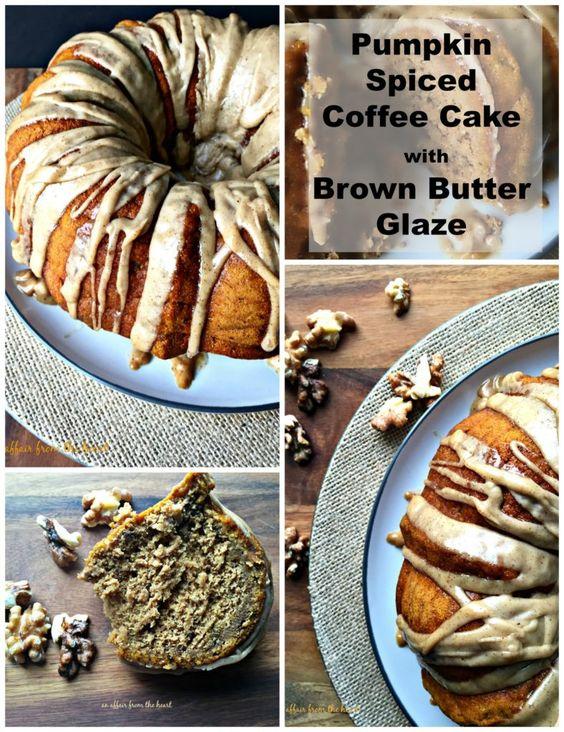 Pumpkin Spiced Coffee Cake with Brown Butter Glaze - An Affair from ...