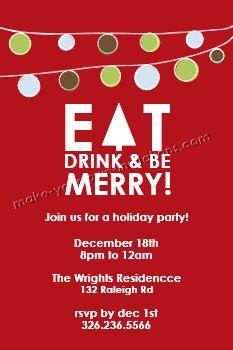 Homemade Christmas Party Invitation | Make Your Xmas Invitation