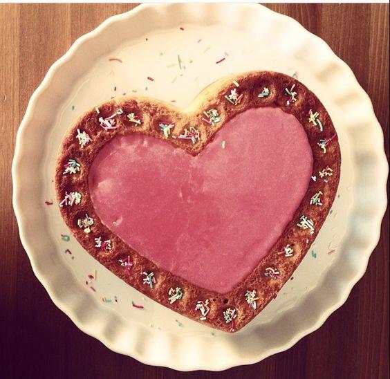 Süßer Valentinskuchen für die Liebsten!