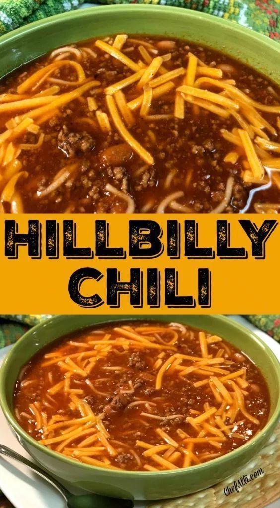 Hillbilly Chili with Cinnamon Rolls