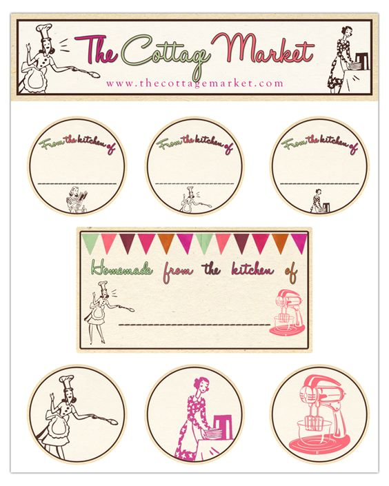 A Fun Collection Of Retro Kitchen Labels...ENJJOY