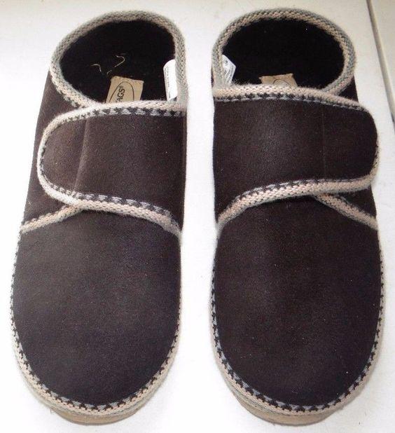 DEER STAGS UTOPIA Slipperooz Women's Brown Micro Suede Slippers Size 10 #DeerStags #SlipperShoes