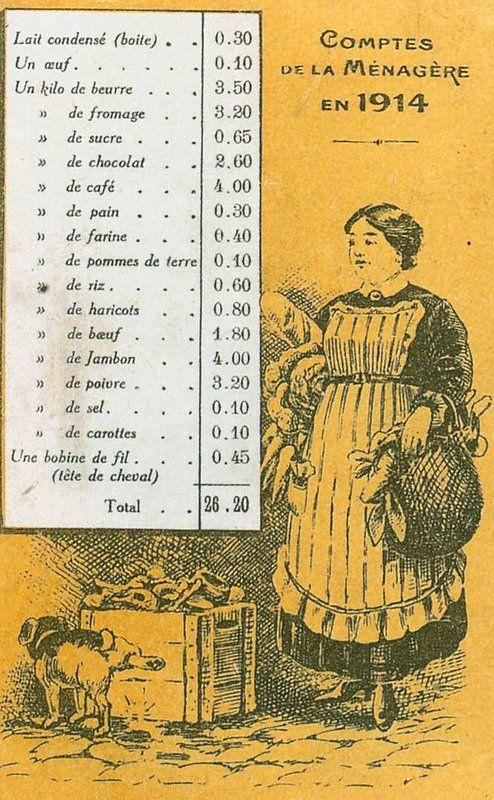 Carte Postale Postcard 1914-1918 Comptes de la ménagères en 1914 Accounts of the housewives in 1914   Flickr - Photo Sharing!