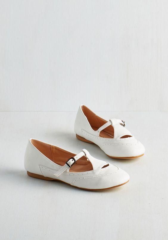 Prep to be Presh Flat in White, #ModCloth