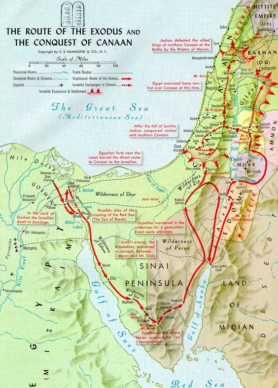 Sinai Also Designates The Wilderness Adjacent To The Mountain By - Map of egypt during exodus