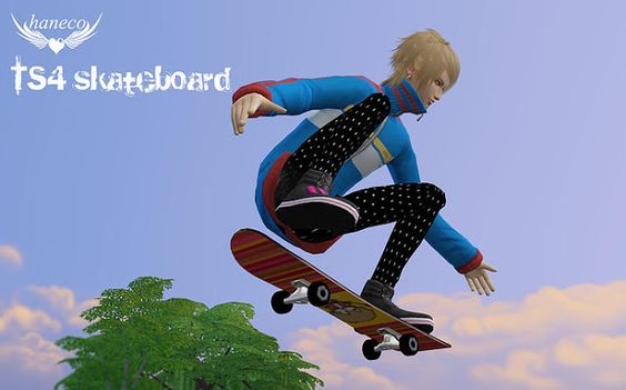 Sims 4 CC's - The Best: Skateboard Set & Posen by Haneco's CC Box